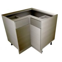 Handleless L Shaped Corner Base Cabinet With Drawers
