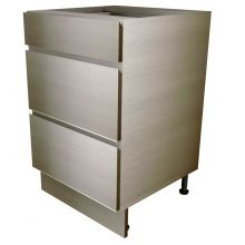 Handleless 3 Drawer Base Unit