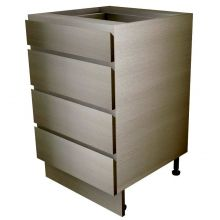 Handleless 4 Drawer Base Unit