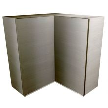 Handleless L Shaped Corner Wall Cabinet