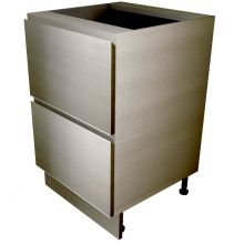 Handleless 2 Drawer Sink Unit