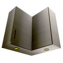 HYBRID L Shaped Corner Wall Cabinet With Lights