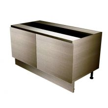 Handleless Butler Double Sink Base Cabinet