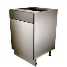 Handleless Single Door Base Cabinet With Drawer