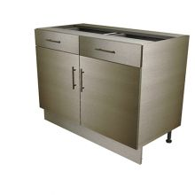 Double Door Base Cabinet With Drawers