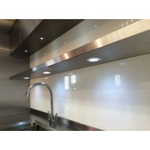 Floating Stainless Steel Wall Shelves With Lights 2 (1950mm - 2400mm)