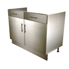 HYBRID Double Door Sink/Hob Base Cabinet With Drawers (False)