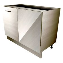 Pull Door Straight Corner Base Cabinet, With Mesh Wire Baskets