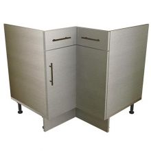L Shaped Corner Sink/Hob Base Cabinet With Drawers (False)