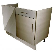 HYBRID Straight Corner Sink/Hob Base Cabinet With Drawers (False)