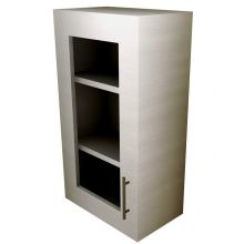 HYBRID Single Door Wall Cabinet (with Hinge Door) With Glass Doors