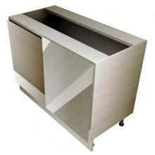 Handleless Pull Door Straight Corner Base Cabinet, with Mesh Wire Baskets