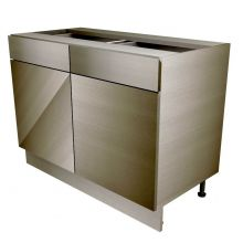 Handleless Double Door Base Cabinet With Drawers